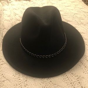 Fedora Hat with chain